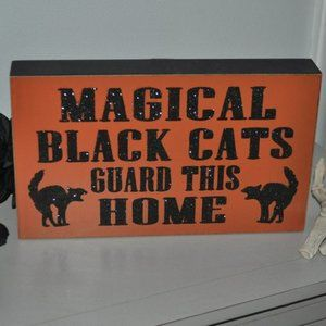Other - ✨ MAGICAL BLACK CATS Sign Decor 😼